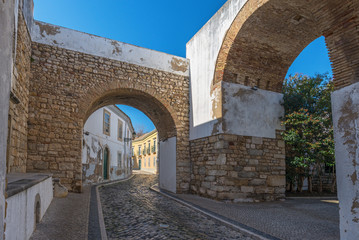 Europe, Portugal, Algarve, city of FARO - Traditional street