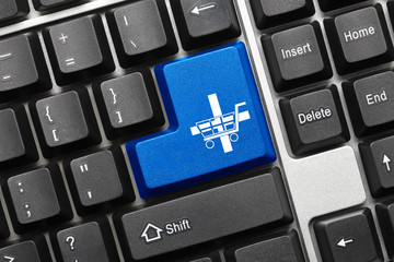 Conceptual keyboard - Add to the basket (blue key)
