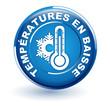 températures en baisse sur bouton bleu