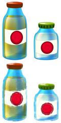 Cartoon hospital elements - medicine bottles