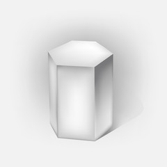 white hexagonal prism