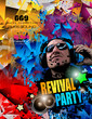 Disco Night Club Flyer layout with DJ shape