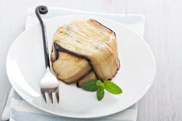 Eggplant pasta bake