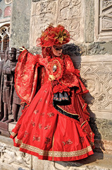 Woman in red - Carnevale Venezia