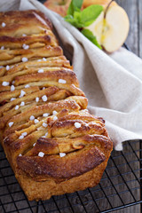 Cinnamon apple pull apart bread