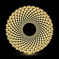 Shiny golden ring shape design, vector illustration