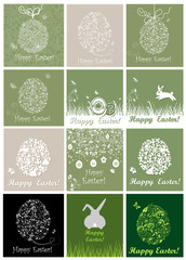 Beautiful easter cards with lacy and paper eggs