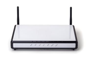 Wi-fi modem isolated on white background.