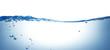 Leinwandbild Motiv onda splash blu