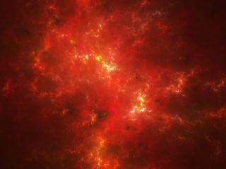 Nebula with hot plasma