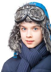 Boy in winter clothing