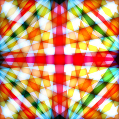 Multicolored background with crossed rays