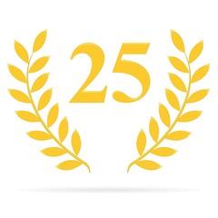 Lauriers 25 gold sur fond blanc