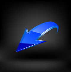 Blue arrow. Vector