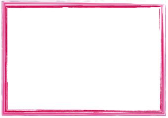 rosa Rahmen quer