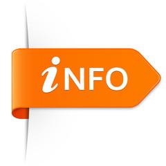 Langer orangener Sticker Pfeil – iNFO