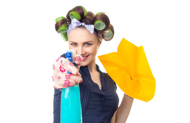 Housewife with rag