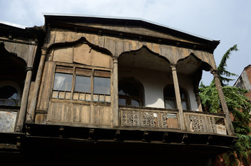 Traditional architecture in old part of Tbilisi,Georgia