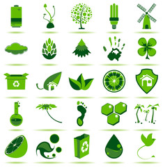 Green Eco Icons 2