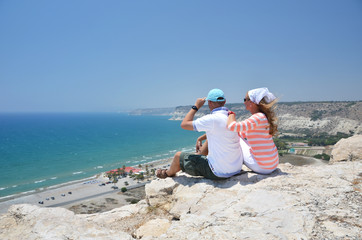 A couple on the rock. Cyprus