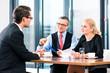 Business - Meeting oder Besprechung in einem Büro