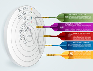 Business Concept Template with Darts