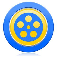 film blue yellow icon