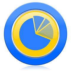 diagram blue yellow icon graph symbol