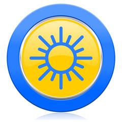 sun blue yellow icon waether forecast sign