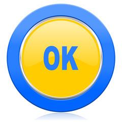 ok blue yellow icon