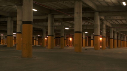 Underground Parking Pillars Scary Zoom
