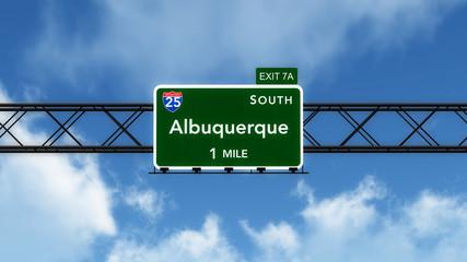 Albuquerque USA Interstate Highway Sign