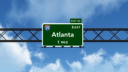 Atlanta USA Interstate Highway Sign