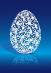 Easter egg with 3D pattern, vector