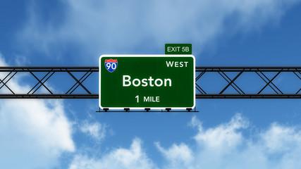 Boston USA Interstate Highway Sign
