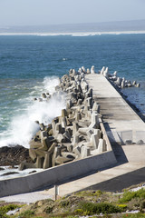 Harbour wall sea defences