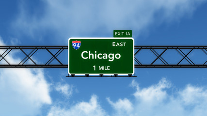Chicago USA Interstate Highway Sign