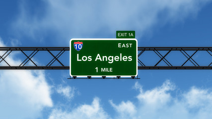 Los Angleles USA Interstate Highway Sign