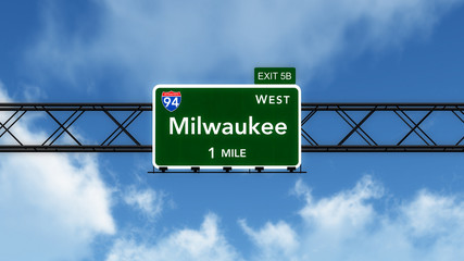 Milwaukee USA Interstate Highway Sign