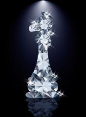 Diamond chess Knight, vector illustration