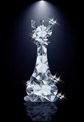 Diamond chess Rook, vector illustration