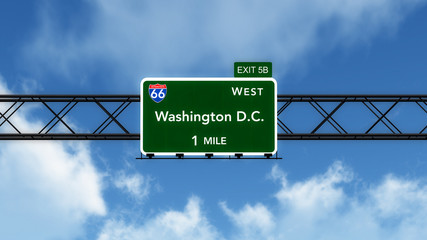 Washington DC USA Interstate Highway Sign