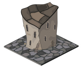 A video game object: an old house