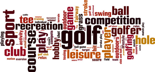 Golf word cloud concept. Vector illustration