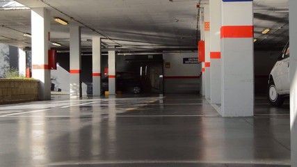 Underground Garage Parking Lot Entrance