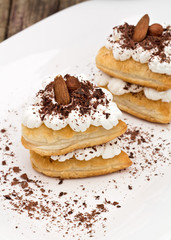 Sweet hearts puff pastry
