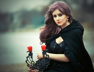 The beautiful gothic girl