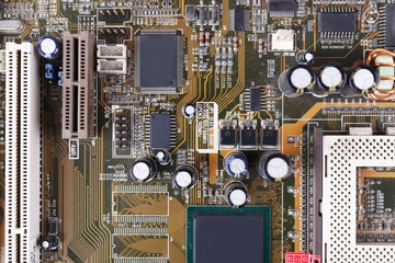 Motherboard, macro view