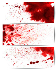 Set of backgrounds with bloodstain