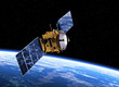 Communication Satellite Orbiting Earth - 78337357